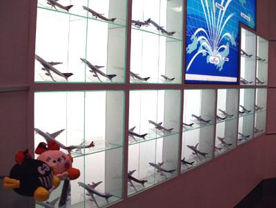 飛行機の模型がいっぱい!