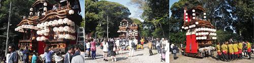 盛り上がるお祭りの風景