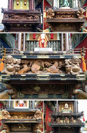 素晴らしい彫刻の数々