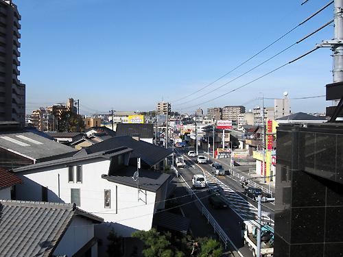 新田店屋上より市内撮影