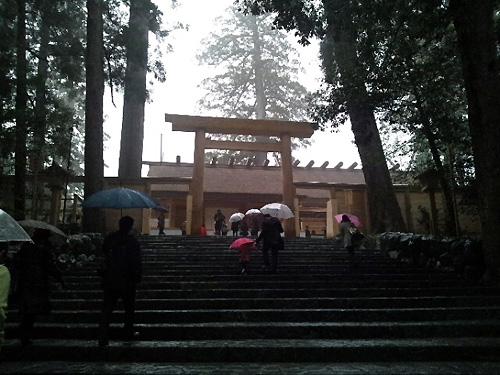 雨の伊勢神宮です!