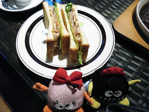 テリヤキチキンのトーストサンド☆