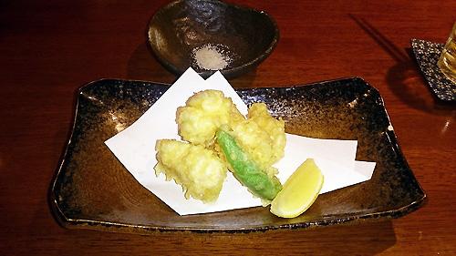 美味白子の天ぷら