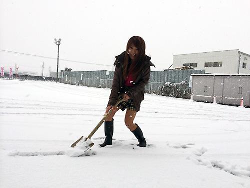 雪とアイドル