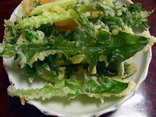タンポポの天ぷら