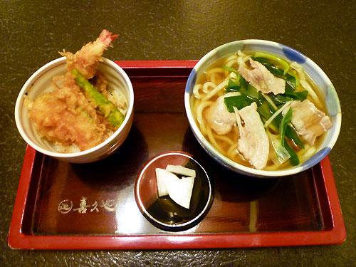 お好みセット(肉うどん&ミニ天丼)♪