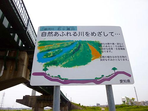 石ヶ瀬川の看板