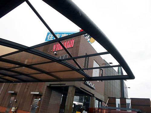 駐輪場の屋根
