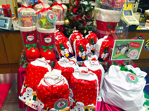 クリスマス景品コーナー