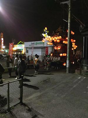 『武豊町長尾春祭り』有楽口田店前にて