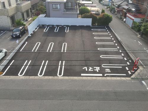 有楽砂川店、新駐車場です。