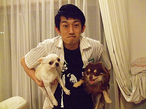 田中君と愛犬たち!!