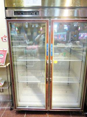 故障してしまった景品冷凍庫