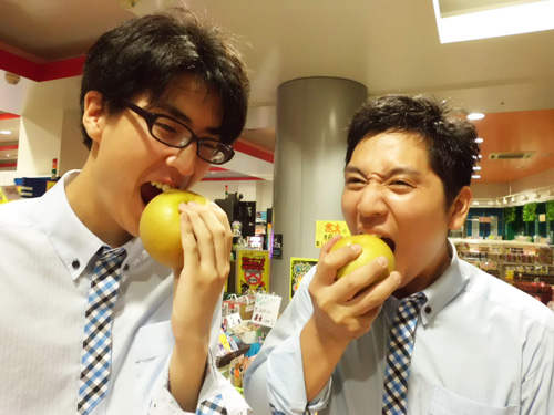 梨を皮ごと食べてみました