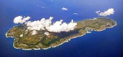 小さなきれいな島