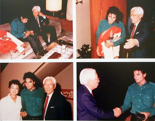 マイケルとの写真