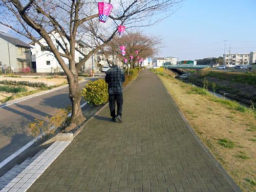 おじいちゃんお散歩