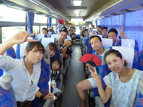 バスの中でパシャリ!