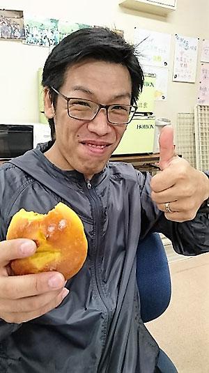 かぼちゃパンを食す『飯田』