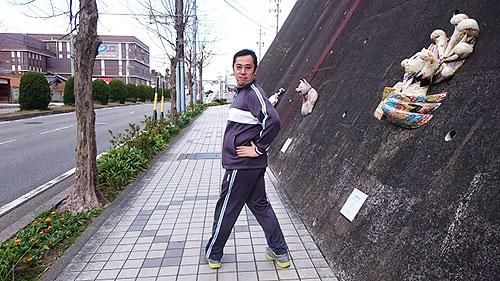 久野さん、渾身のポーズ!!