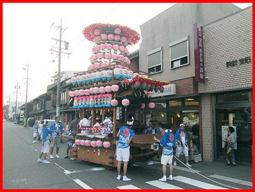 『夏祭り・唐子車』