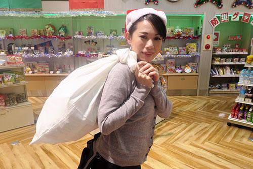 サンタの白い袋