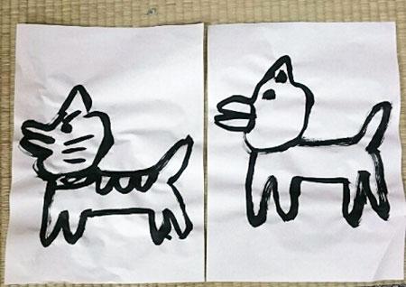 時田画伯(猫と犬)