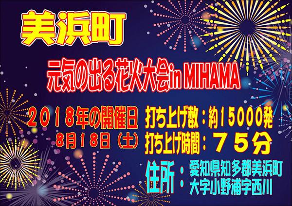 元気の出る花火大会in MIHAMA