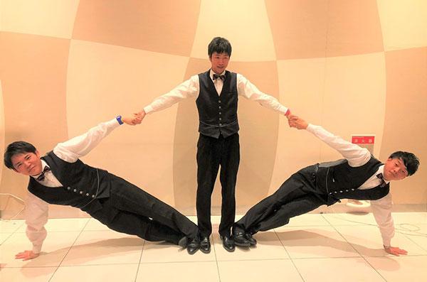変な3人トリオ