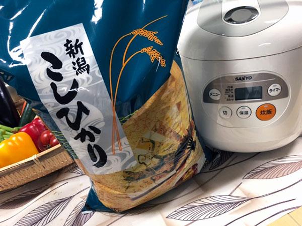 お米と炊飯器