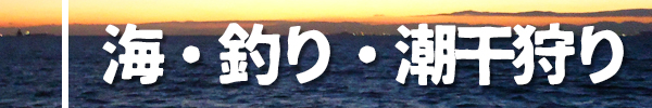 海・釣り・潮干狩り
