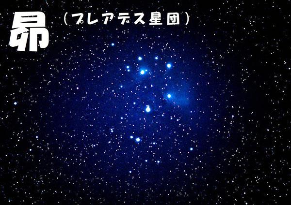 昴(プレアデス星団)
