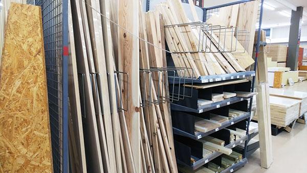 木材コーナー