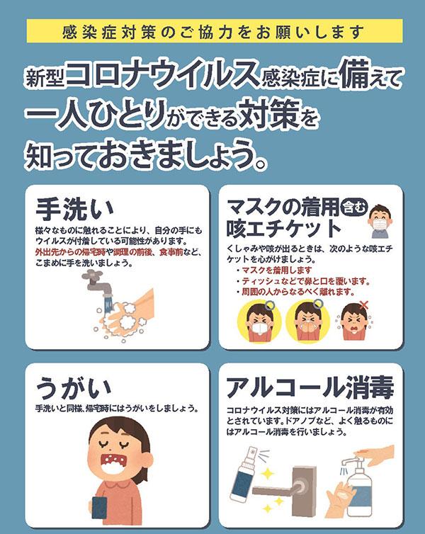 新型コロナウイルス感染症対策☆