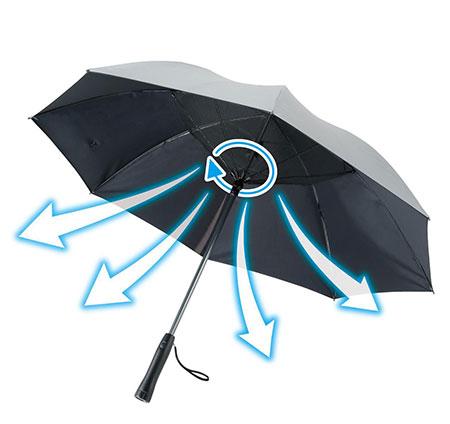 扇風機付き傘