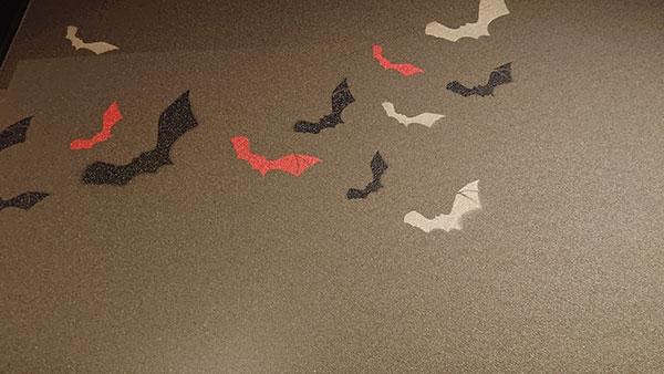 店内の蝙蝠の写真