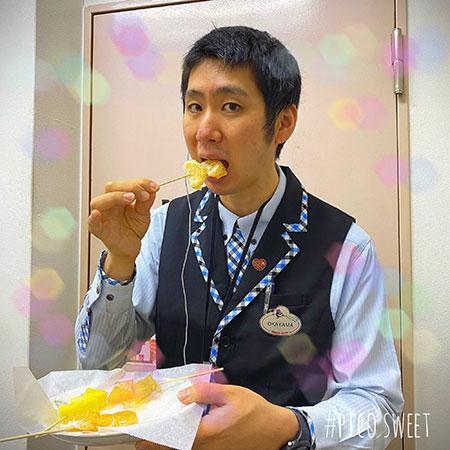 岡山君試食