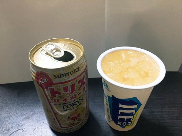 アイスボックスに合うお酒の実験