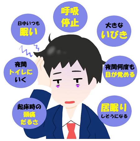 無呼吸症候群の症状