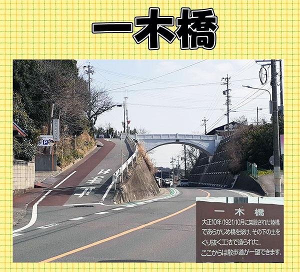 一木橋にて