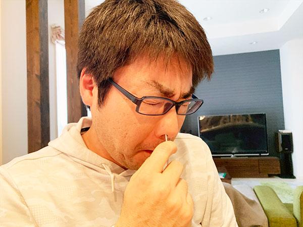 コロナウイルス検査キット試してみた!