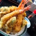 知多半島で味わう絶品天丼!!東海市で発見!そそり立つ5本の海老!お食事処『志げ家』